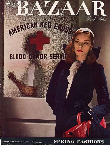 1943-Harper's Bazaar-Lauren Bacall