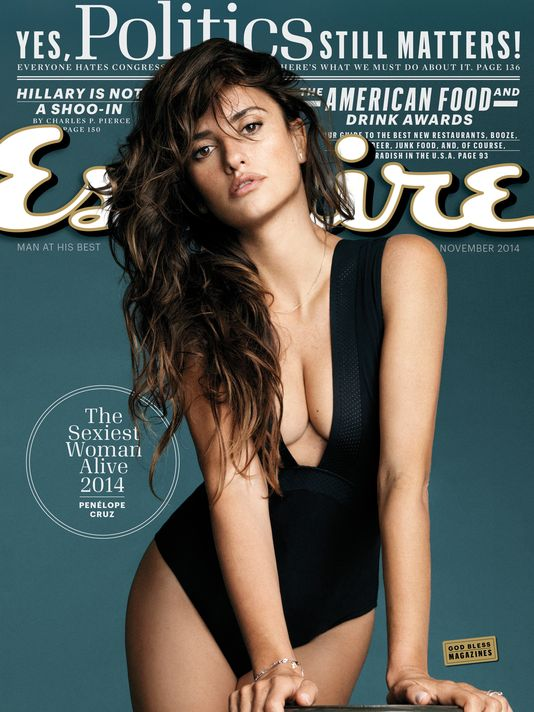 esquire-penelope cruz-sexiest woman alive-cover-2014