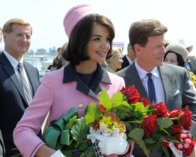 katie holmes as jackie kennedy-the kennedys