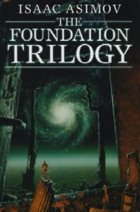 isaac asimov-foundation trilogy-book cover