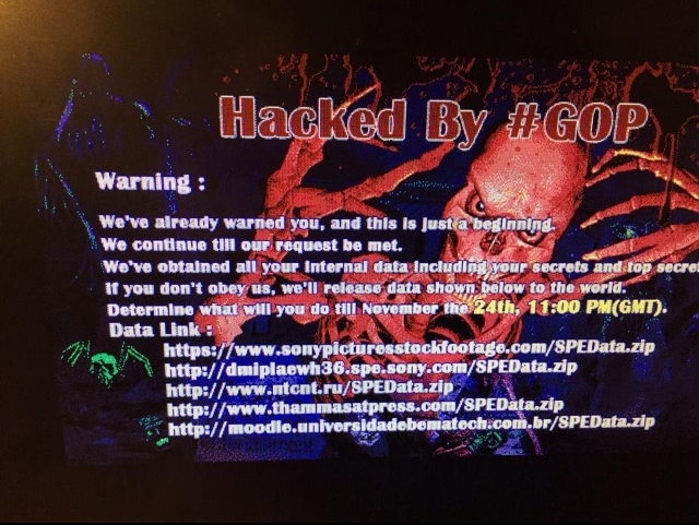 sony-hacked by GOP-2014
