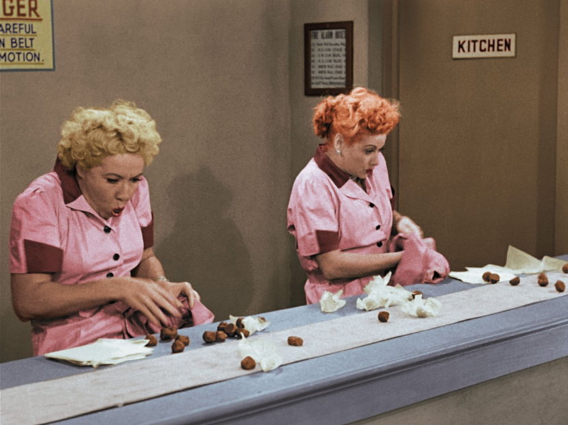 I Love Lucy-Job Switching-colorized