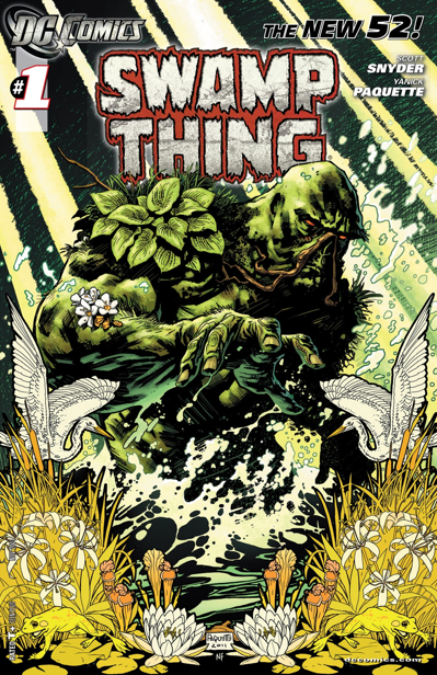 swamp thing-comic book cover