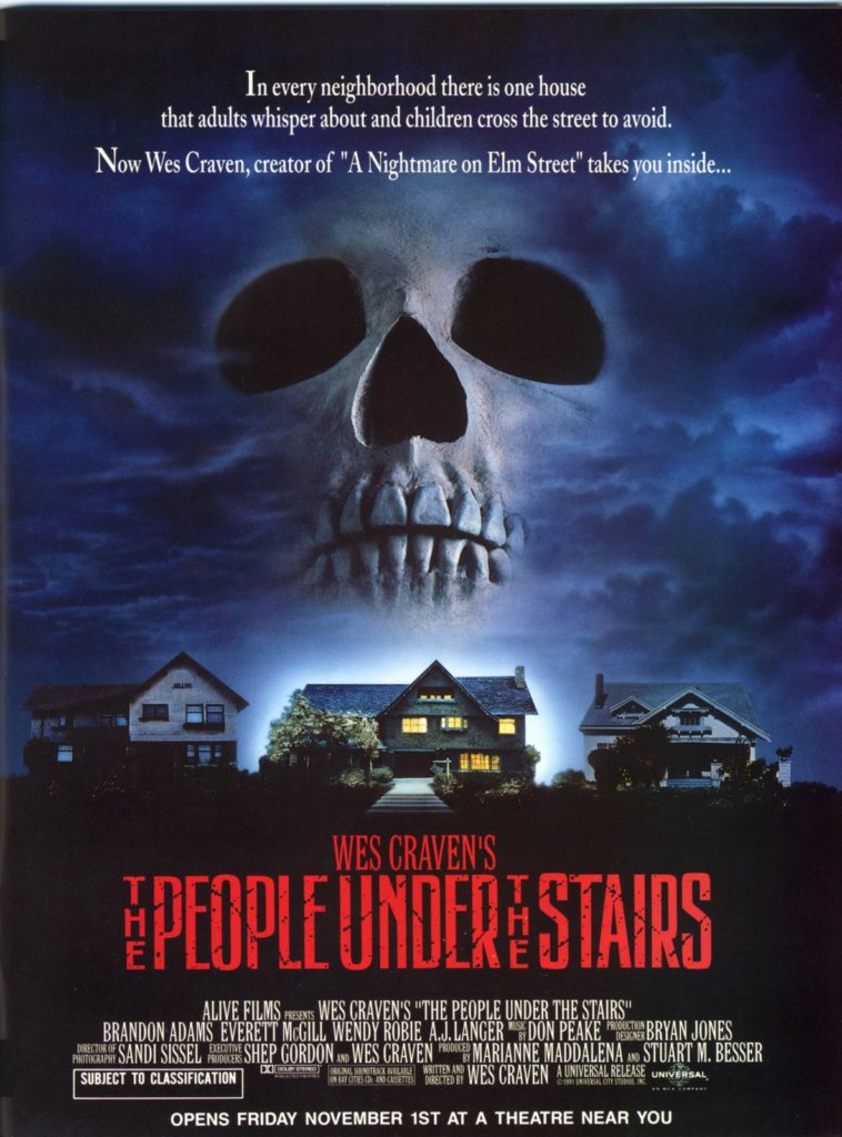 people under the stairs-movie poster