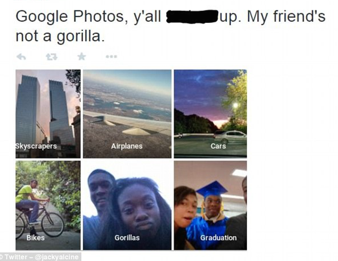 "google photos app ""gorilla"" mislabel"