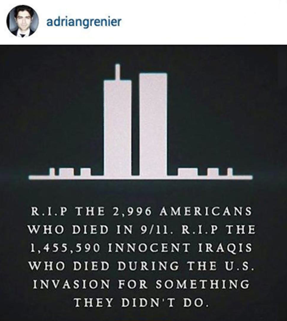 adrian grenier 9-11 instagram post