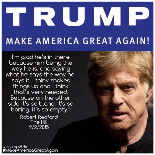 trump twitter redford post