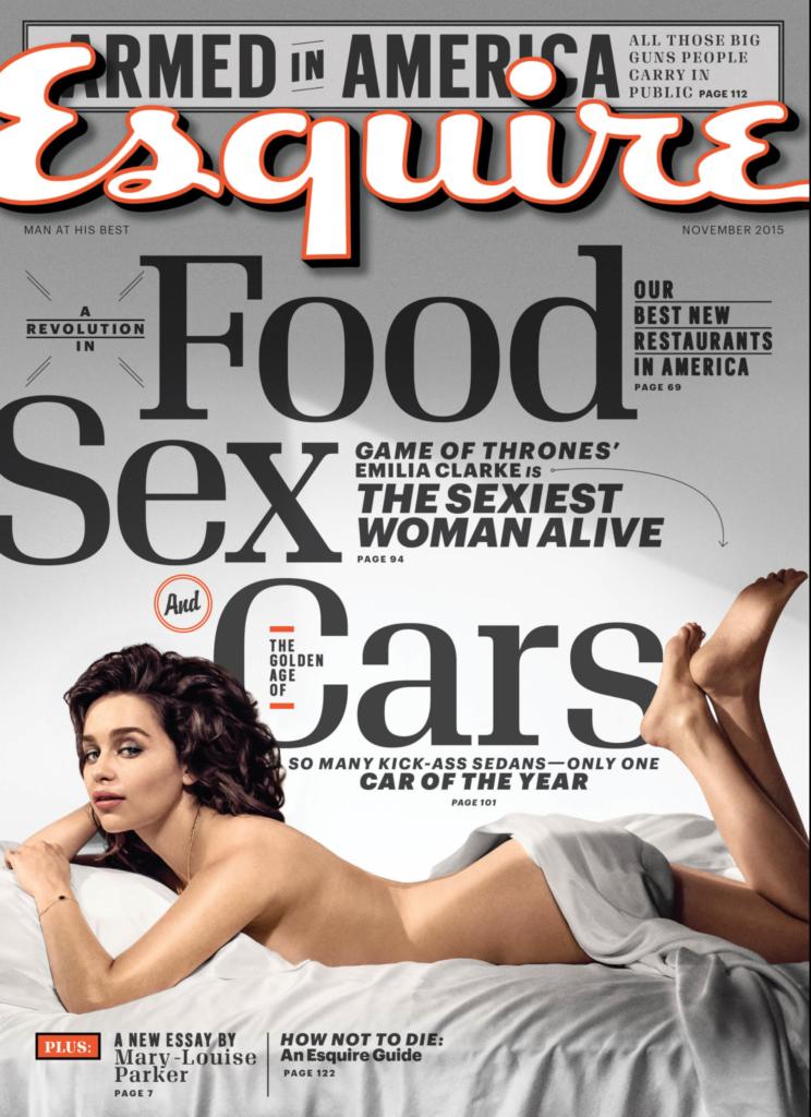 esquire november 2015 cover emilia clarke sexiest woman alive