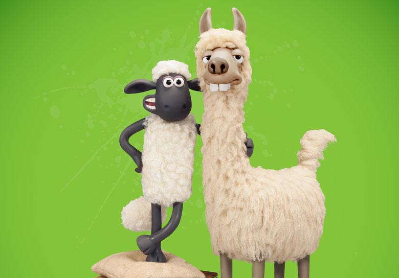 shaun the sheep the farmer's llamas