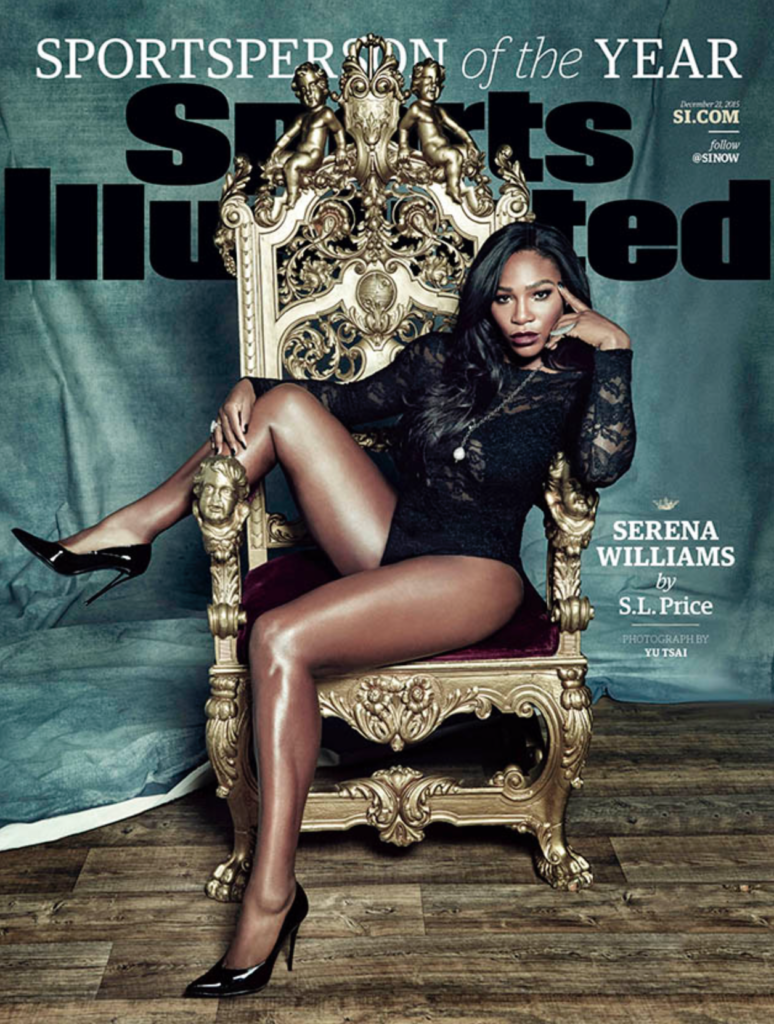 2015 Sports Illustrated Sportsperson of the Year cover-Serena Williams