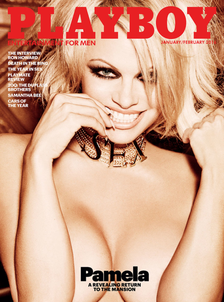 playboy january-february 2016 cover-pamela anderson
