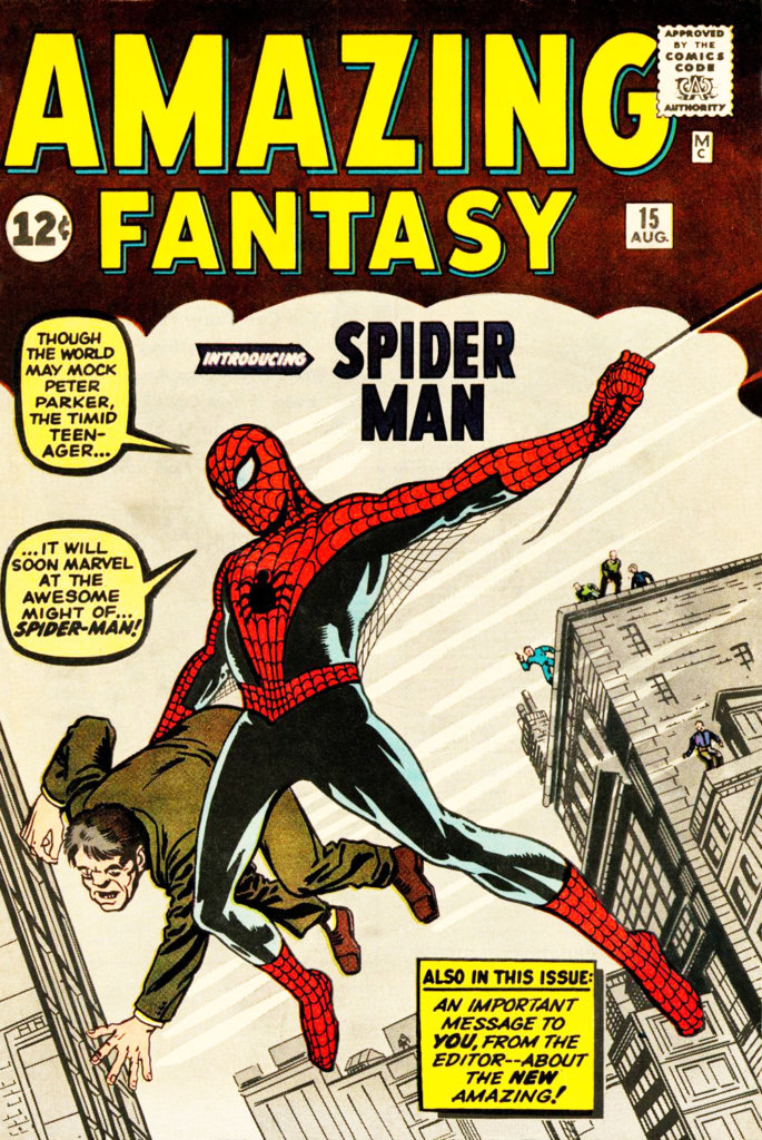 spider-man-amazing fantasy no 15-comic book cover