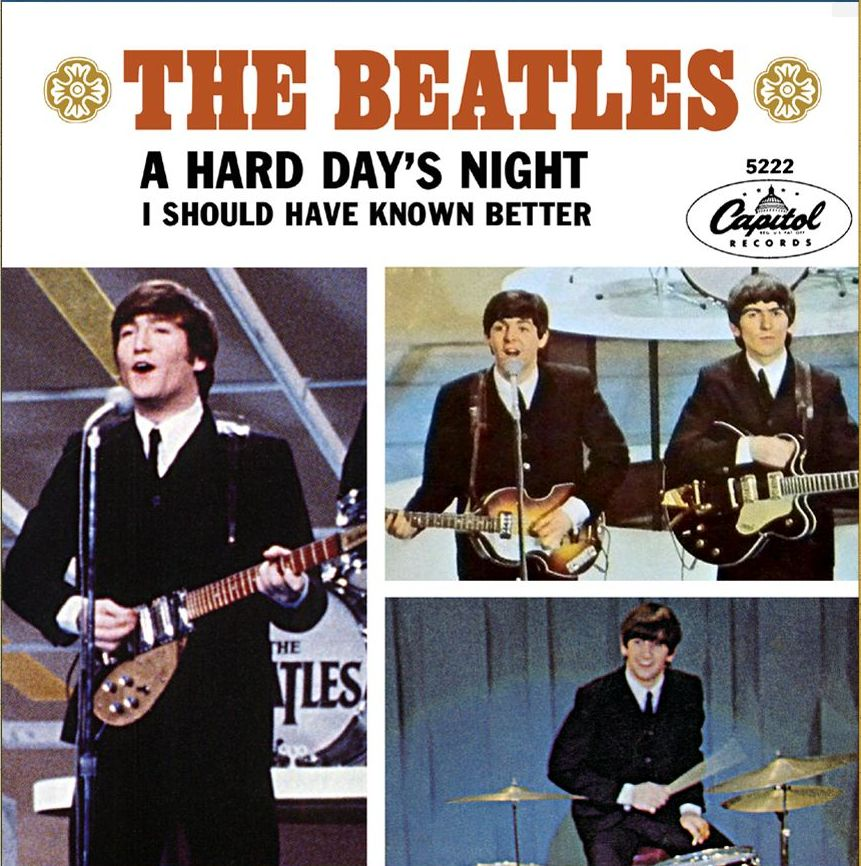 a hard day's night-beatles-45-picture sleeve