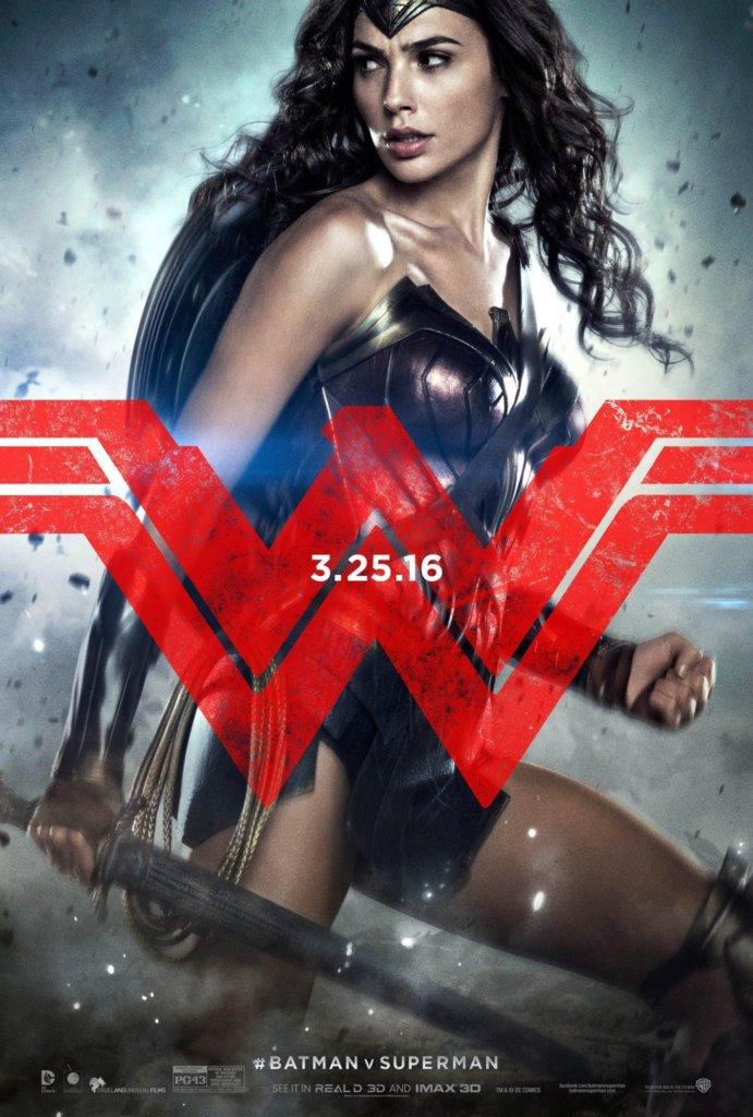 batman v superman-movie poster-wonder woman