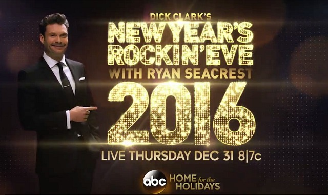 ryan seacrest new year's rockin' eve abc