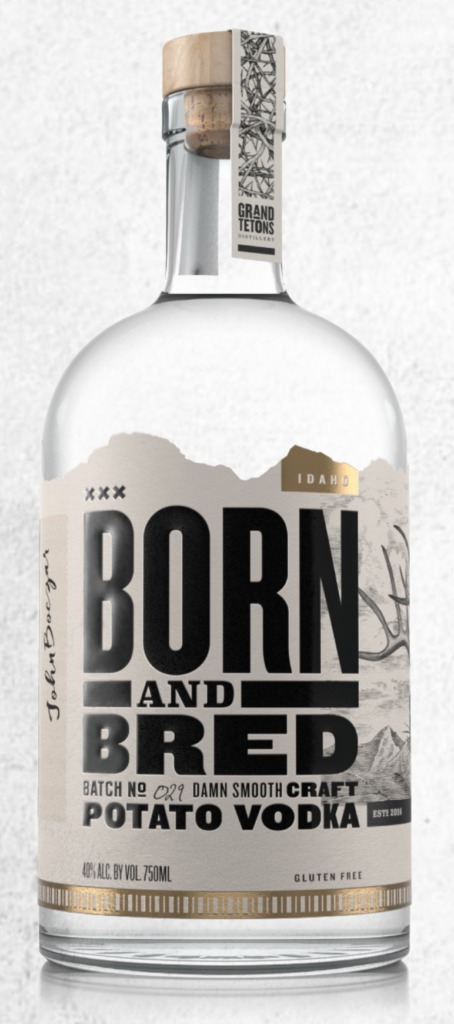 born and bred vodka bottle