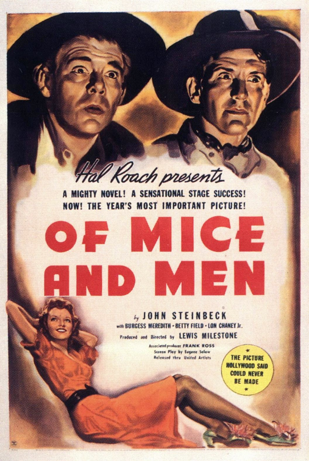 of mice and men 1939 movie poster