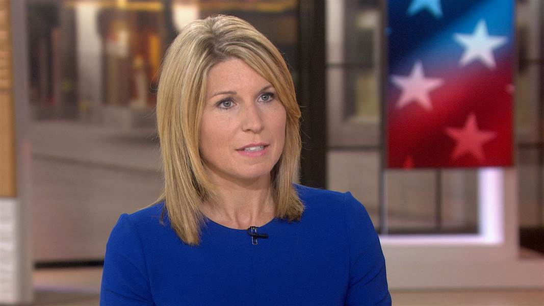 Blonde political analyst boob bounce