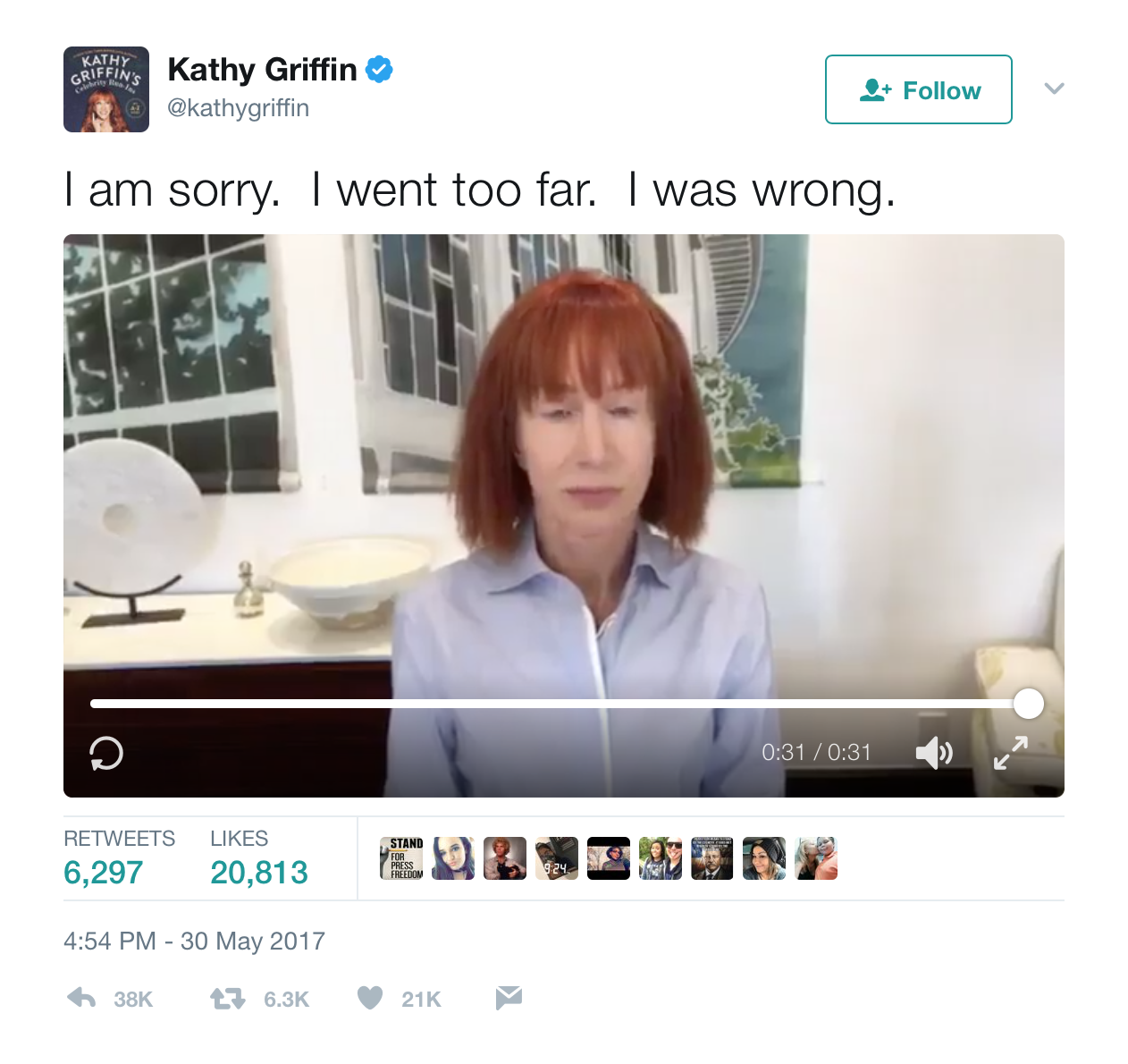 Kathy Griffin Responds To Backlash Over Her Beheaded Trump Piece - Unpopular railway puts 15 year old intern in charge of their twitter account he takes the internet by storm